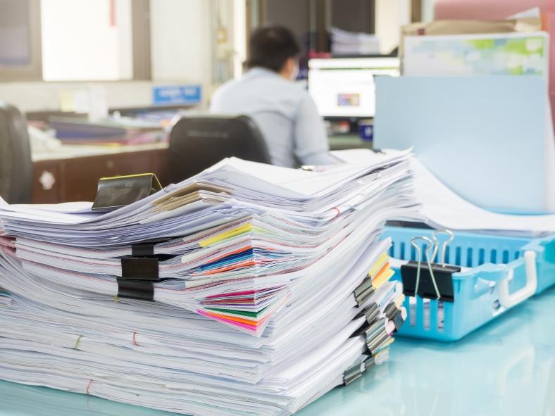 書類がたくさん